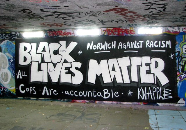 Grapes Hill underpass - Black Lives Matter (revisited)