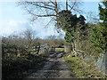TQ3455 : Track towards Tillingdown Farm by Robin Webster