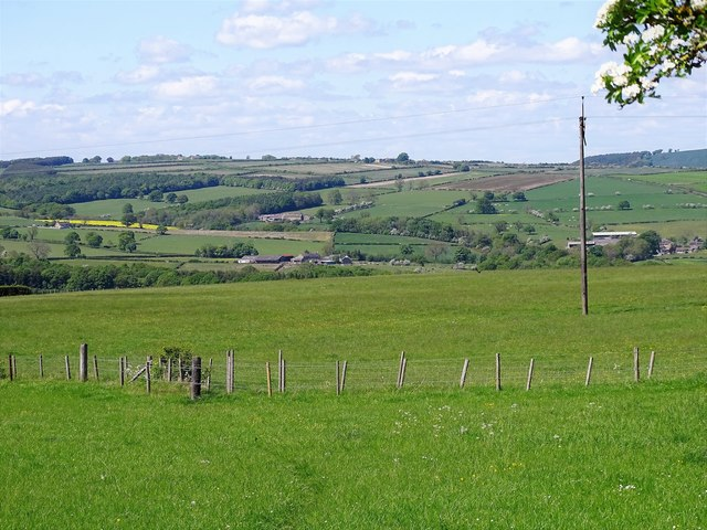 View over the fields near Shotley Station