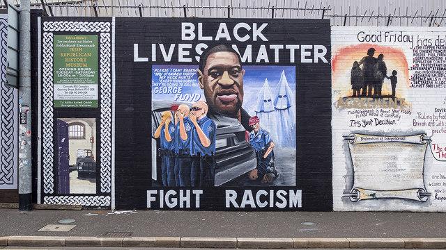 George Floyd mural, Belfast