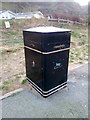 SH7678 : Litter bin at Morfa Conwy car park, Conwy by Meirion