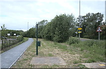 TF0819 : Gas installation and footpath by Bob Harvey