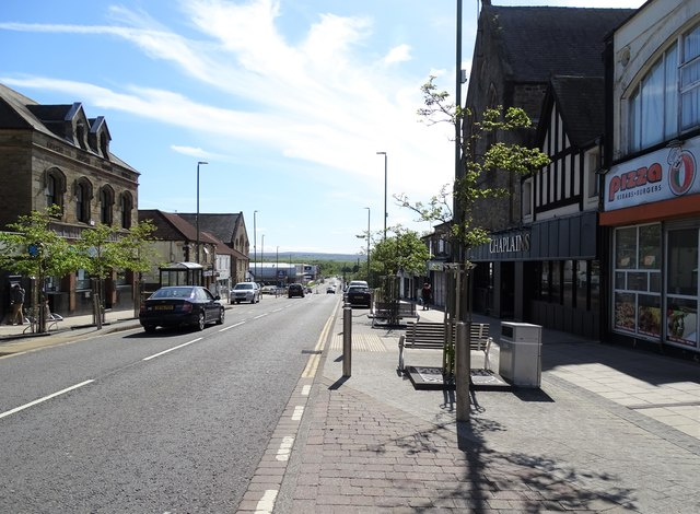 Looking down Front Street in Consett