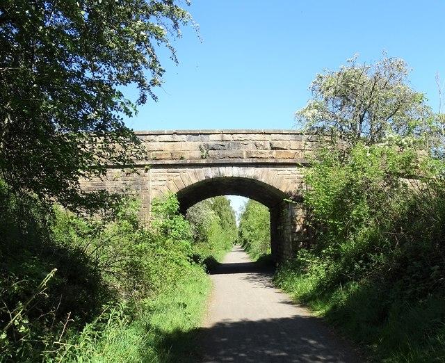 Bridge over the former railway