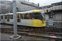 SJ8499 : Metrolink tram outside Victoria Station by N Chadwick