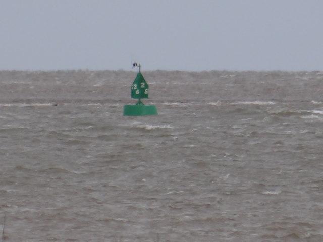 Starboard Channel marker buoy No 25