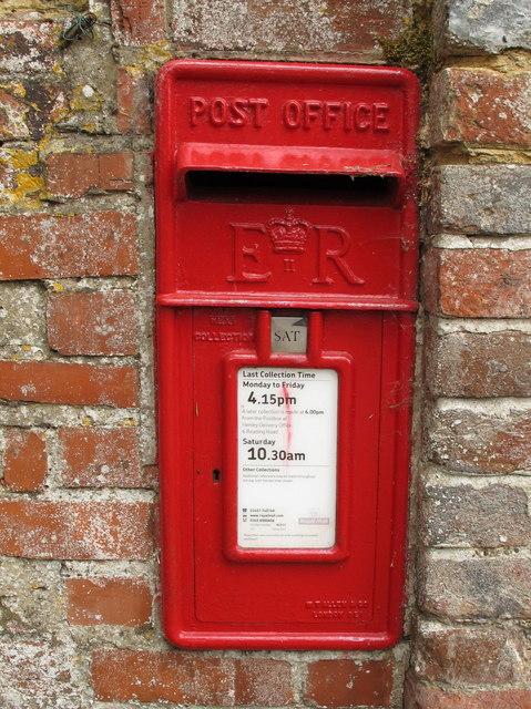 EIIR wall postbox by Pishill farmhouse