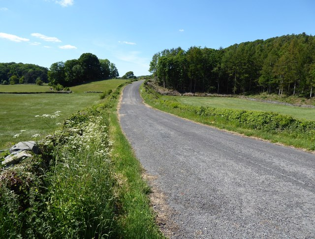 Old A590 road between the Angler's Arms and Creep Hill