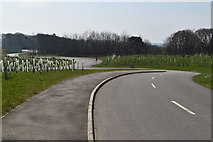 TQ6143 : Access road from the new A21 by N Chadwick