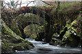 SH8052 : Ancient and modern bridges at Penmachno by Andy Waddington