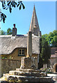 SP2504 : Cross, Thatch and Steeple by Des Blenkinsopp