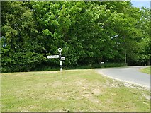 SU8700 : Fisher Lane junction with road sign, South Mundham by Jeff Gogarty