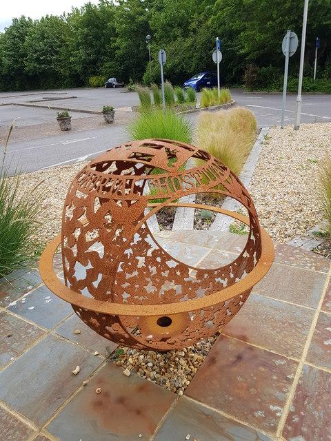Art work outside Bognor Regis War Memorial Hospital