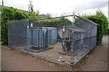 SP2806 : Electricity sub-station behind Burford Road, Carterton, Oxon by P L Chadwick
