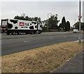 ST3090 : Müller Milk lorry ascending Malpas Hill, Newport by Jaggery