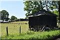 SU7564 : Granary opposite Hall's Farm, Farley Hill by Simon Mortimer