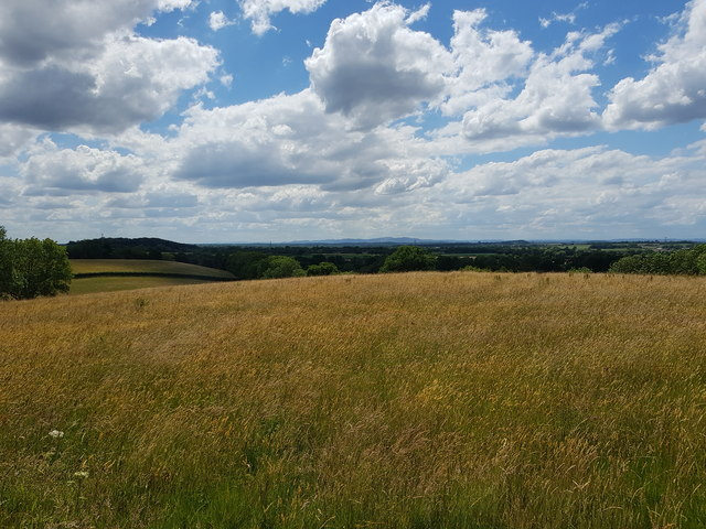 View towards the distant Malvern Hills