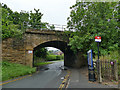 SE2747 : Railway bridge by Weeton station, from the east by Stephen Craven