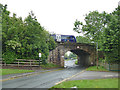 SE2747 : Train crossing the railway bridge by Weeton station by Stephen Craven