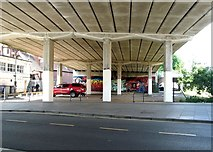 TG2309 : Underneath the Magdalen Street flyover by Evelyn Simak