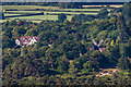 TQ2350 : Dungate Manor and Reigate Heath Windmill by Ian Capper