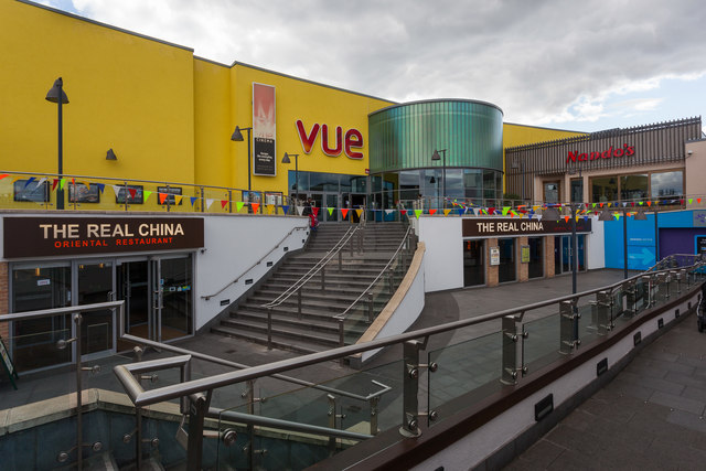Vue cinema and steps from Wells Place