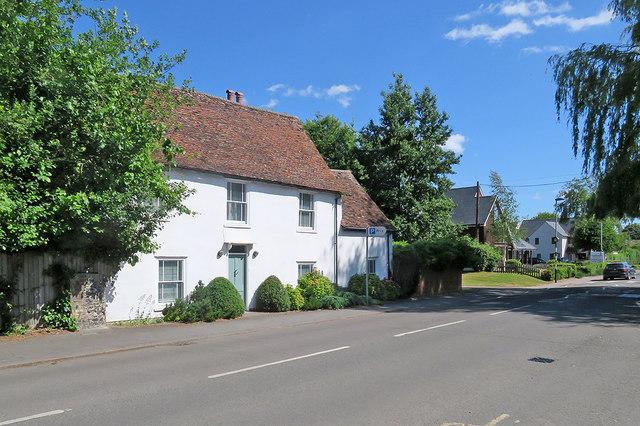 Melbourn High Street: a listed house