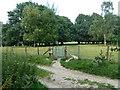 TQ4452 : Footpath towards Westerham by Robin Webster
