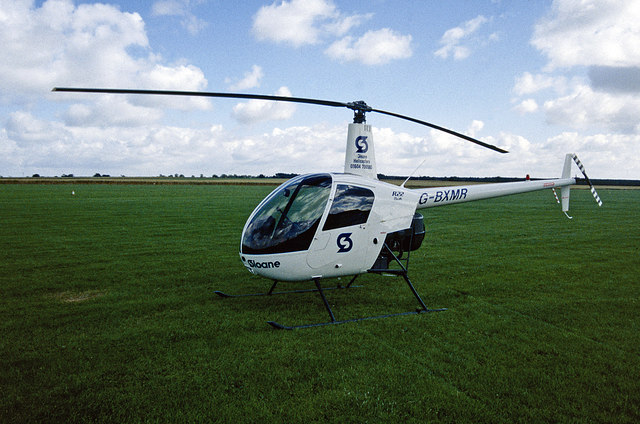 Helicopter at Sywell Aerodrome