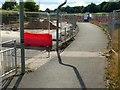SK6342 : Burton Road closed by Alan Murray-Rust