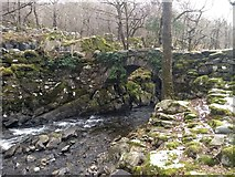 SH6229 : Pont Cwm-yr-afon from the east bank of Afon Artro by David Medcalf