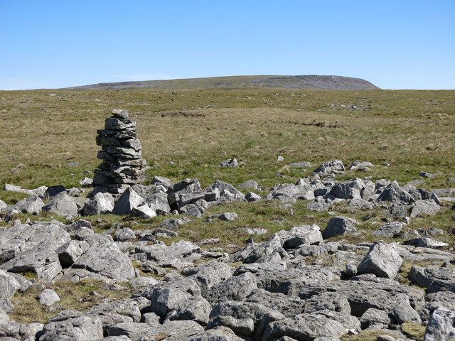 Cairn in stony ground on Green Fell