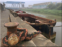 TA1031 : Old barge on the River Hull by Paul Harrop