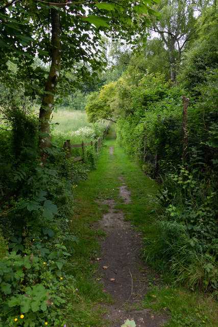 Footpath from St. Swithun's church to School Lane