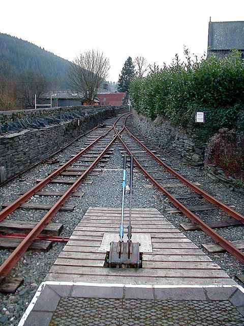 View south from Corris station platform