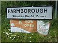 ST6660 : Farmborough welcomes careful drivers by Neil Owen