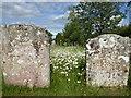 TQ6245 : Gravestones in All Saints Churchyard, Tudeley by Marathon