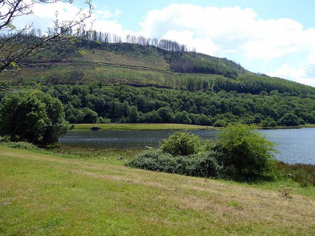 By the Cwm Rheidol Hydro-reservoir