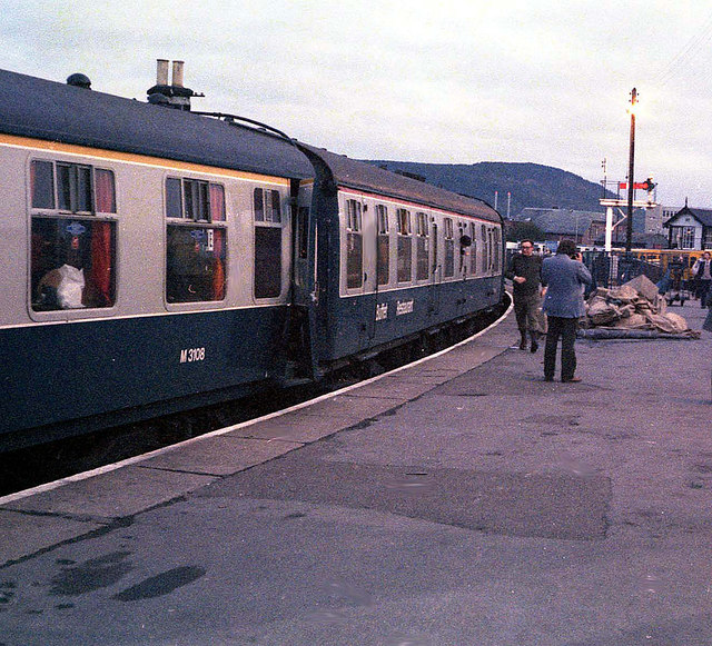 In the 'Far-North' line platform at Inverness - 1982