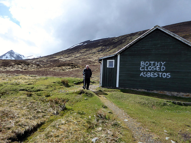 Beside the closed bothy at Culra