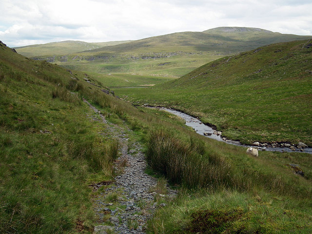 Path above Afon Llechwedd-mawr