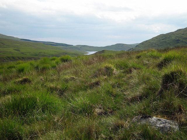Rough ground on Banc Llechwedd-mawr