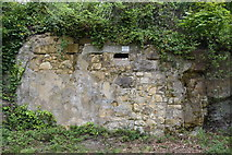 TQ5739 : Bricked in cave, Tunbridge Wells Common by N Chadwick