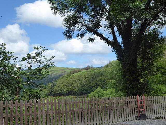 A view out from Aberffrwd station