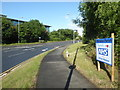 SO8754 : Newtown Road and a thank you sign by Chris Allen