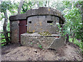 SP1803 : Double Norcon pillbox, former RAF Southrop, Horseshoe Wood by Vieve Forward