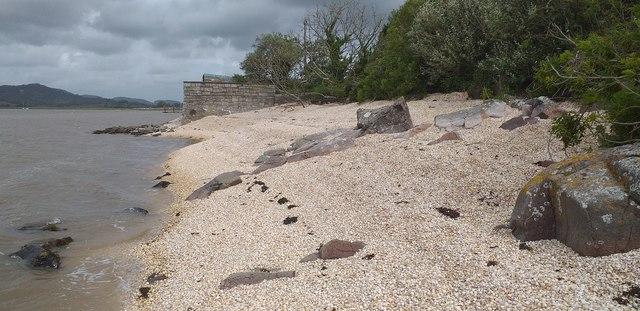 Cockle shell beach at Kippford