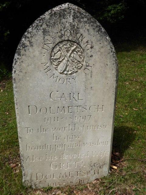 Shottermill Cemetery: gravestone of Carl Dolmetsch