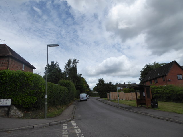 Lamppost at the junction of Border Road and Crichmere Lane