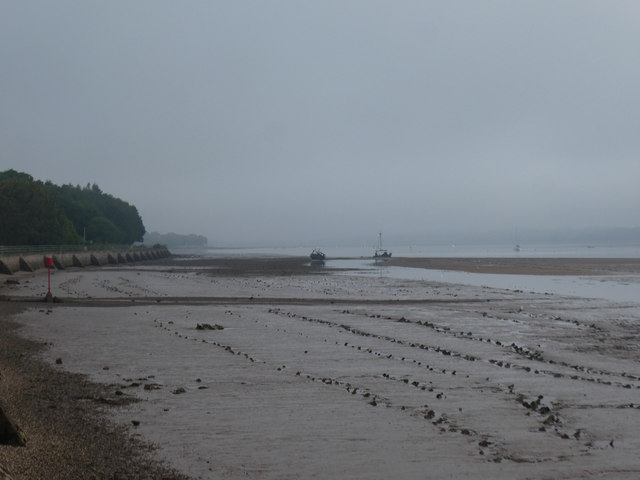 Misty morning, Exe estuary at low tide, north of Starcross